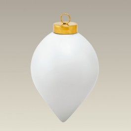 Wide Teardrop Ornament, 3.5""