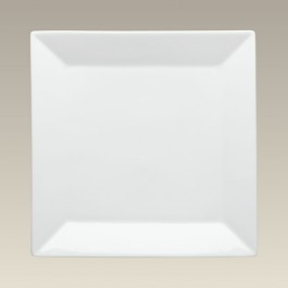 "Square Plain Plate, 10.625"", SELECTED SECONDS"