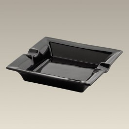 "7.125"" Black Square Ashtray"