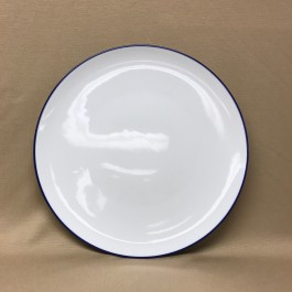 """10.875"""" Blue Border Coupe Plate"""