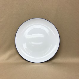 "8.25"" Blue Border Coupe Plate"