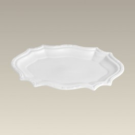 Oblong Scalloped Tray, 10.625""