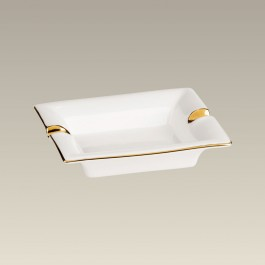 "5.5"" Ashtray with Gold Trim"