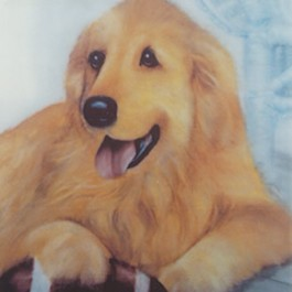 Brigadoon (a Golden Retriever) by Camille Muller