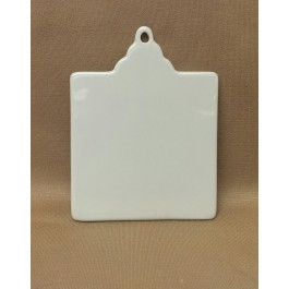 """Square Ornament with Hole, 3"""" x 3.875"""""""