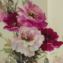 White and Pink Poppies by Mary Ashcroft