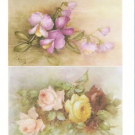 Sweet Pea and Roses by Sonie Ames