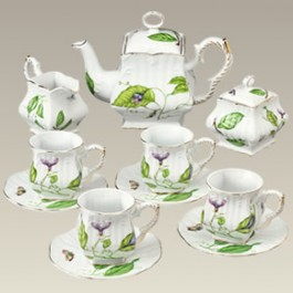 Insect and Foliage Tea Set
