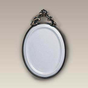 "5.675"" Oval Plaque with Metal Frame"