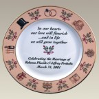 "10.5"" Wedding Plate, Not Personalized!"