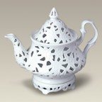 "8.25"" Two Piece Teapot Shaped Votive"