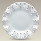 "8.75"" Fluted Openwork Plate, SELECTED SECONDS"