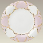 """10.5"""" Pink & Gold Scrolled Plate"""