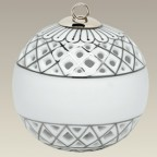 "3"" Platinum Trimmed Openwork Ball Ornament"