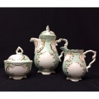 Green and Gold Tea Set, 5 piece, SELECTED SECONDS