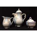 Blue and Gold Tea Set, 5 piece, SELECTED SECONDS