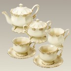Ivory and Gold Tea Set