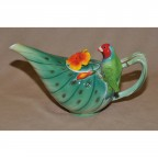 Parrot Decorated Teapot