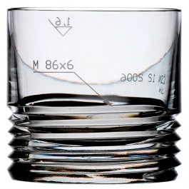 11 ounce BOMMA m80x6 Collection Crystal Whiskey Tumbler - Set of 2