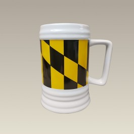 """22 oz. Maryland Flag Decorated Beer Stein, 5.75"""""""