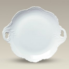 """12.25"""" Scrolled Cake Plate, SELECTED SECONDS"""