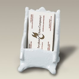 "4.5"" Scrolled Business Card Holder"