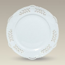 "9.25"" Openwork Dresden Style Plate, SELECTED SECONDS"