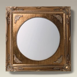 """Antique Style Gold Frame with 12"""" Round Tile"""