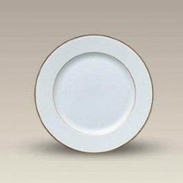 """7.5"""" Porcelain Double Gold Banded Rim Plate, SELECTED SECONDS"""