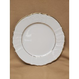"""10.625"""" Double Gold Banded Bernadotte Plate"""
