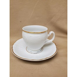 8 oz. Double Gold Banded Bernadotte Cup and Saucer