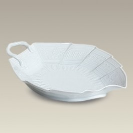 """9.5"""" Embossed Leaf Dish, SELECTED SECONDS"""