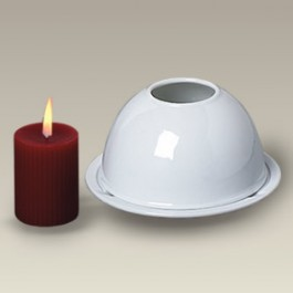 """4.625"""" Two Piece Dome Candle Holder"""