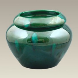 "6"" Green Urn Shaped Self Watering Planter"