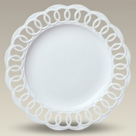 "13"" Round Openwork Plate, SELECTED SECONDS"