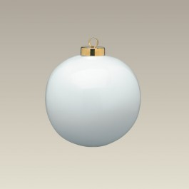 "2.5"" Eggshell Thin Ball Ornament"