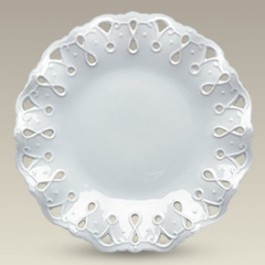 """8.75"""" Fluted Openwork Plate, SELECTED SECONDS"""