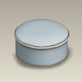 """2.5"""" Gold Banded Round Box"""