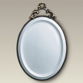 """9.5"""" Oval Plaque with Metal Frame"""