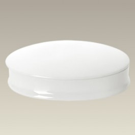 "Plain Oval Box, 7.375"" x 5.75"" x 1.75"""
