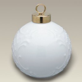 "2.25"" Embossed Ball Ornament"