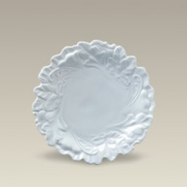 """7.5"""" Embossed Leaf Plate, SELECTED SECONDS"""