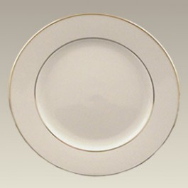 "8.25"" Gold Banded Rim Plate"