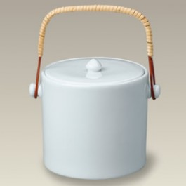 "6"" Ice Bucket with Rattan Handle"
