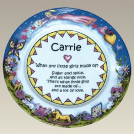 "9.25"" Girl Baby Plate, Not Personalized!"