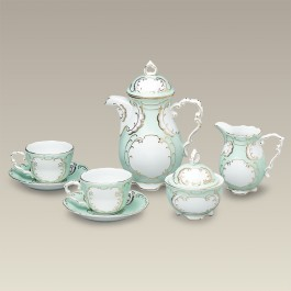 Green and Gold Tea Set, SELECTED SECONDS