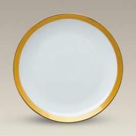 "8"" Etched Gold Border Coupe Plate, SELECTED SECONDS"