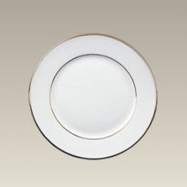 """6.37"""" Double Gold Banded Rim Plate"""