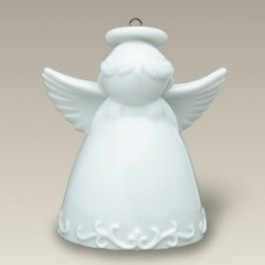 Angel with Halo Ornament or Bell, 2.75""
