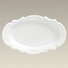 "Oval Scrolled Edge Bowl, 12"" x 7.5"""
